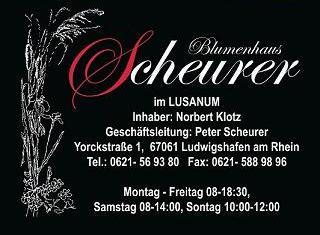 Blumenhaus Scheurer Gesundheitszentrum Ludwigshafen